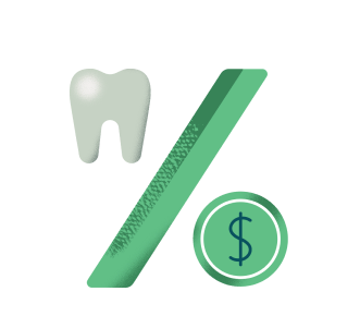 Tooth and currency icon