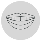 Icon of teeth aligners on a laptop screen