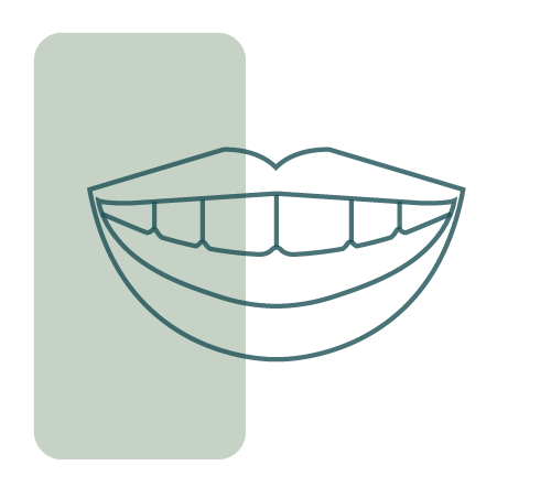 Icon of smile with exposed top teeth